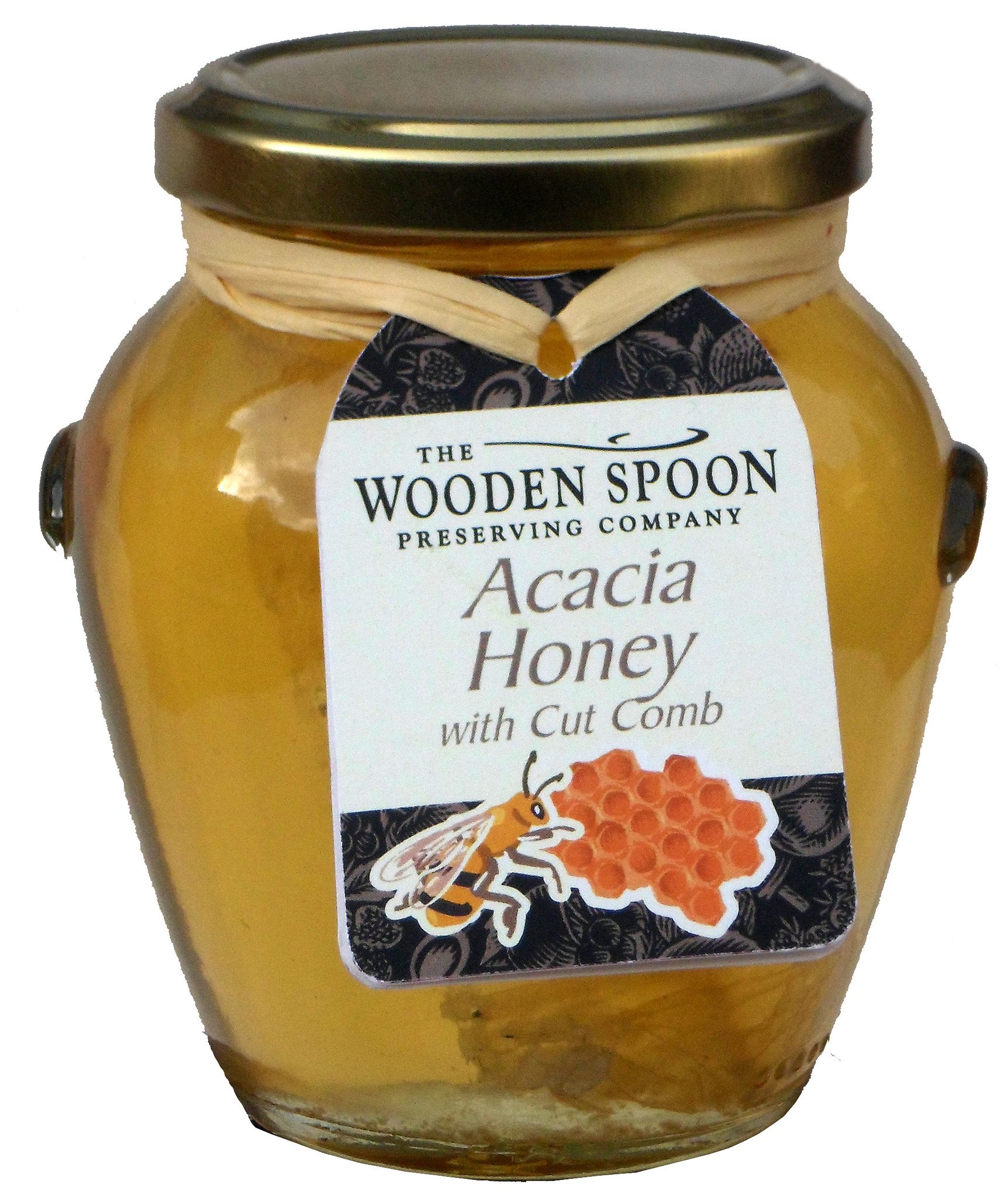 Acacia Honey with Acacia Cut Comb in a Gift Jar