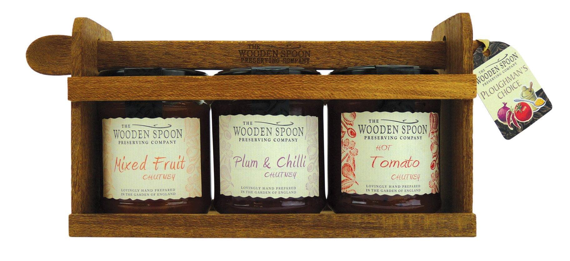 Ploughman's Choice: Hot Tomato Chutney, Fruit Chutney, Plum & Chilli Chutney 3 x 284g