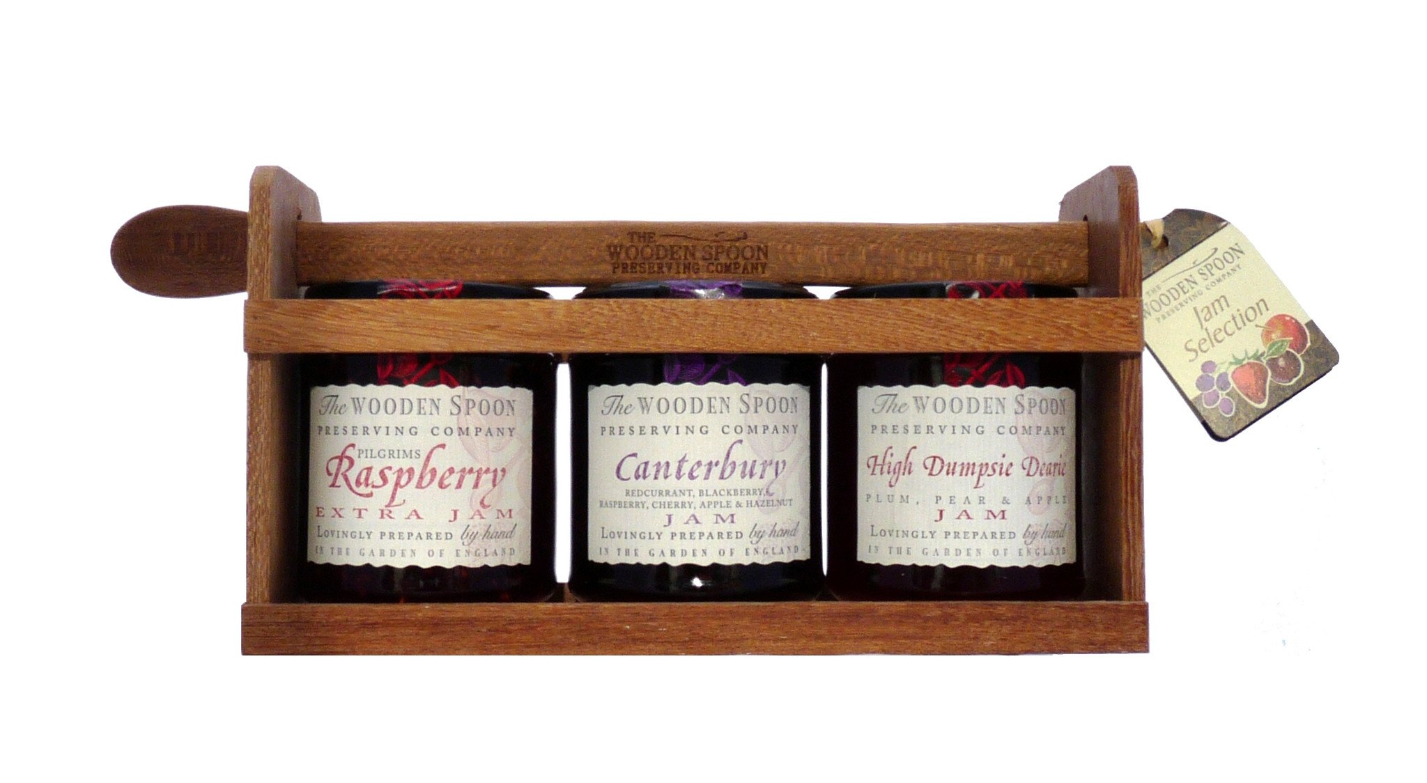 Jam Selection: Plum Pear & Apple Jam, Rapberry Extra Jam, Canterbury Extra Jam 3 x 340g
