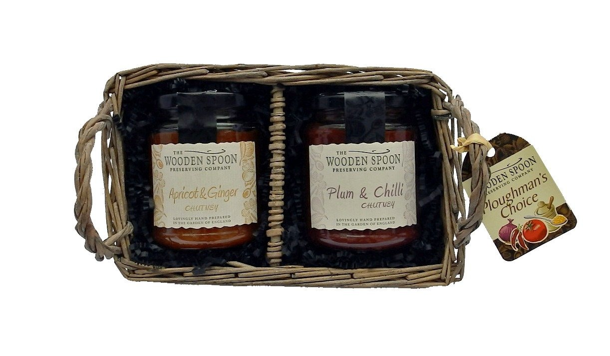 Ploughman's Choice: Apricot & Ginger Chutney, Plum & Chilli Chutney 2 x 284g