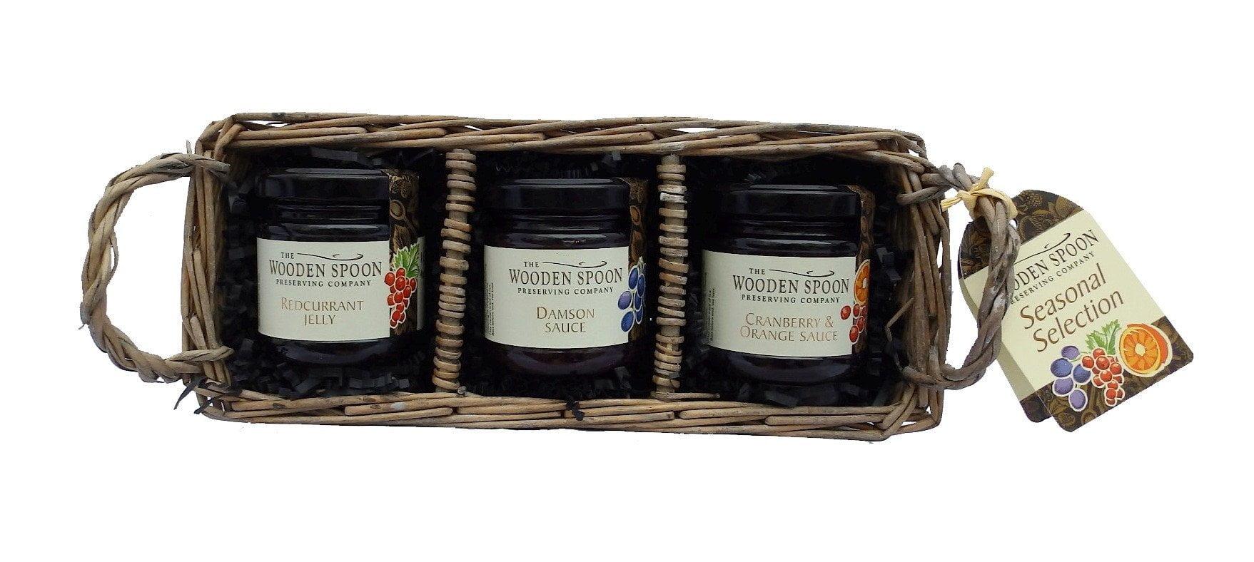 Seasonal Selection: Cranberry & Orange Sauce, Damson Sauce, Redcurrant Jelly  3 x 113g