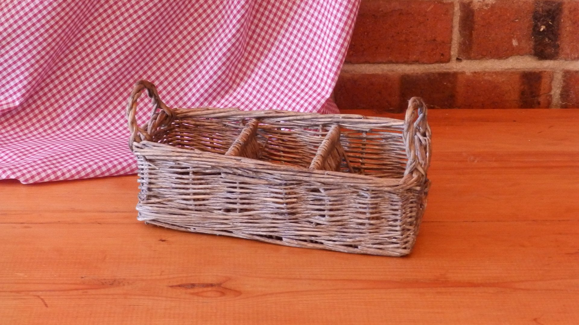Rectangle Basket with Dividers and Two Handles