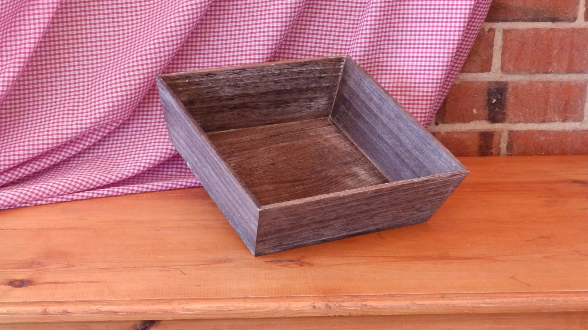 Square Dark Wooden Tray