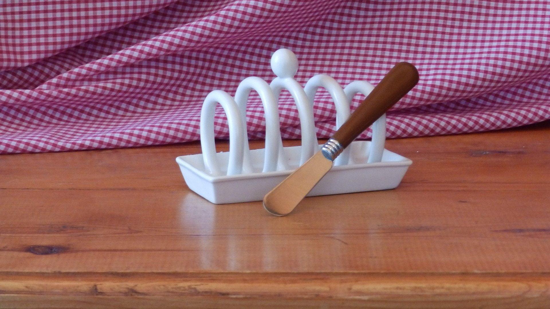 Toast rack and knife